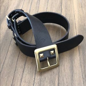 Brown Leather Waist Cinching Belt